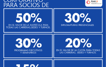 BENEFICIO CORPORATIVO PARA SOCIOS DE PLAN-D
